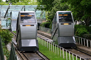 funicular railway serving the Montmartre neighbourhood of Paris, France