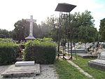 Gödöllő Dózsa György Road's Cemetery. Belfry and Crucifix.JPG