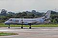 G-LGND 2 Saab SF.340B FlyBe(Loganair) MAN 14SEP13 (9756229356).jpg