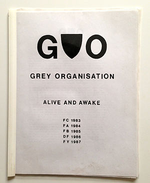 Grey Organisation - GO manifesto with logo