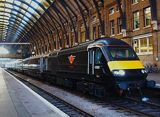 Grand Central (train operating company) - 43080 at London King's Cross on 18 December 2007, the first day of Grand Central services