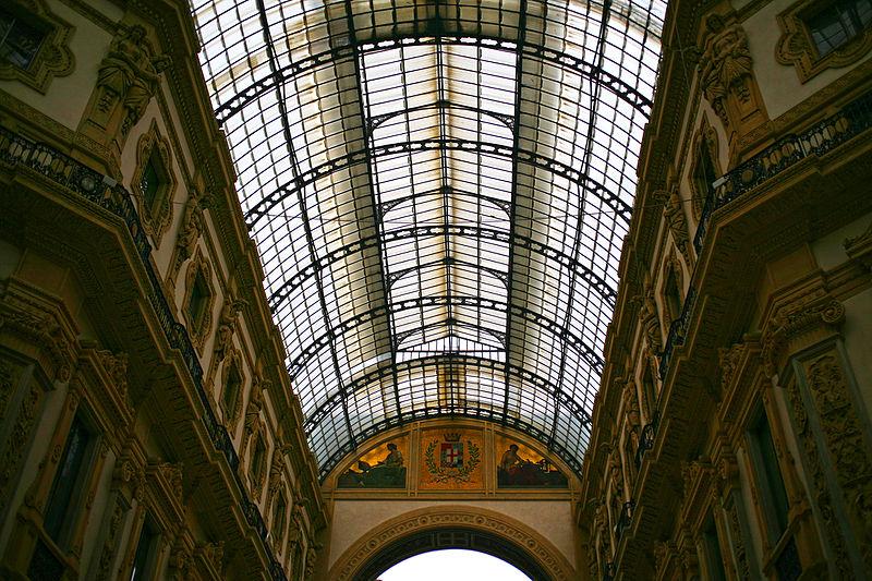 File Galleria Di Milano Dettagli Interno Vetrata E