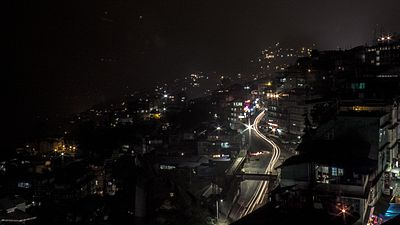 Gangtok NH 31A by the night..jpg