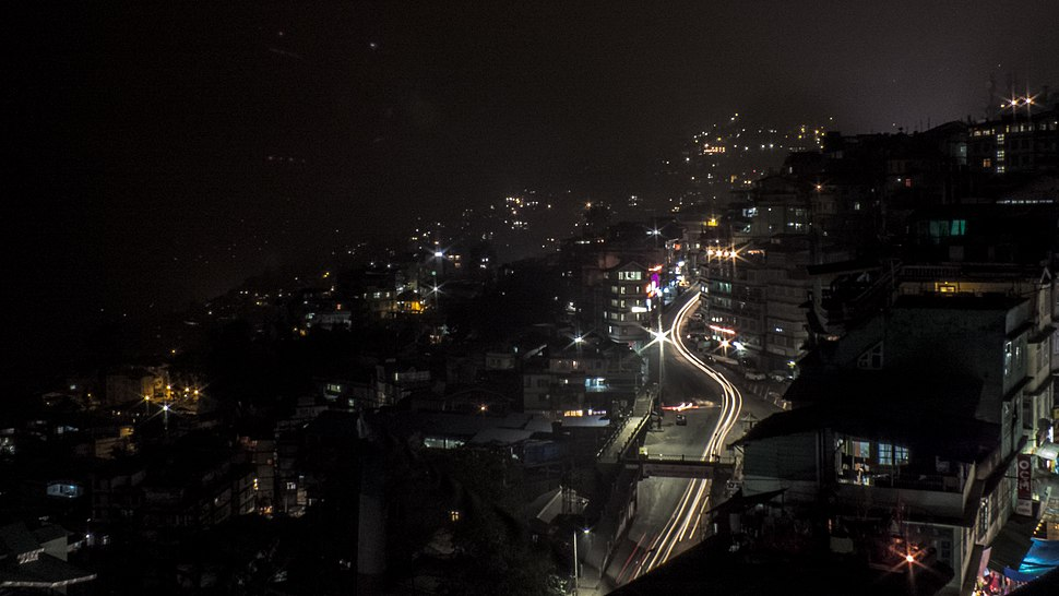 Gangtok NH 31A by the night.