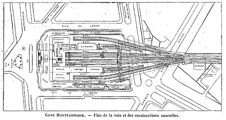 Gare de paris montparnasse wikip dia for Plan interieur gare montparnasse