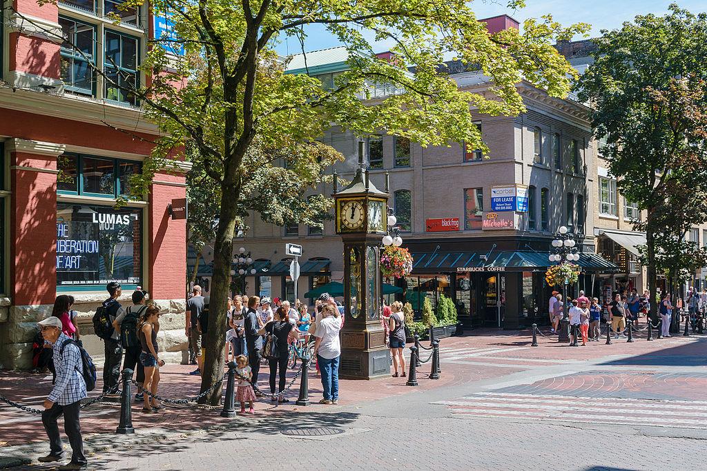 Gastown neighbourhood near Vancouver, BC