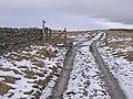 Gate at the head of Splitty Lane - geograph.org.uk - 1704480.jpg