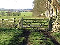 Gate on the path from High Baulk to Little Whittington - geograph.org.uk - 627197.jpg
