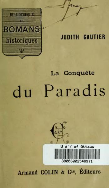 File:Gautier - La Conquête du paradis.djvu