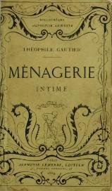 Résultats de recherche d'images pour «Théophile GautierMénagerie intime»