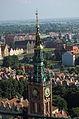 Gdańsk, ratusz Głównego Miasta - widok z wieży kościoła Mariackiego.jpg