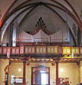 Geislautern Pfarrkirche Mariä Himmelfahrt Innenansicht Orgelprospekt.JPG