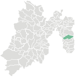 Location of Ixtapaluca in Mexico State