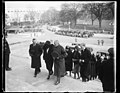 General Pershing and Mrs. Warren lead mourners at funeral of late Senator Warren. In the photograph, left to right- Francis E. Warren, Jr., son of the late Senator; Mrs. Francis E. Warren, LCCN2016889526.jpg