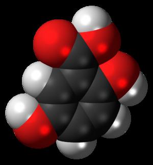 Gentisic acid - Image: Gentisic acid 3D spacefill