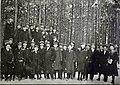 Georg Bergmann and unidentified men outdoors in winter (15516235664).jpg