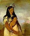 George Catlin - Túnk-aht-óh-ye, Thunderer, a Boy, and Wun-pán-to-mee, White Weasel, a Girl - 1985.66.66-67 - Smithsonian American Art Museum.jpg