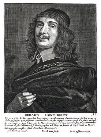 Gerard van Honthorst - Gerard van Honthorst in Het Gulden Cabinet p 165