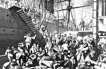 a history of the irish potato famine during the middle of nineteenth century During the mid-nineteenth century, well over a million irish fled  thousands of irish men and women fled the great potato famine in the  because middle -class.