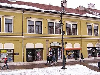 Béla Gerster - The birthplace of Béla Gerster at Hlavná Street in Košice, Slovakia
