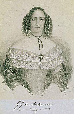 Gertrudis Gómez de Avellaneda - Woodcut of Gertrudis Gómez de Avellaneda