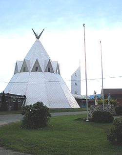 Mi'kmaq church on the Gesgapegiag reservation