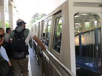 Getty Center Tram - Image: Getty Center Monorail wagon