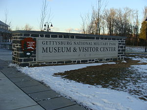 Gettysburg Museum and Visitor Center - Sign near main doorway