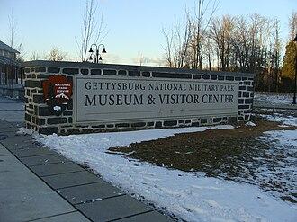 Gettysburg Museum and Visitor Center - Sign near main doorway