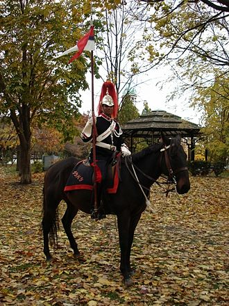 The Governor General's Horse Guards - A mounted trooper of the Cavalry Troop in ceremonial dress.