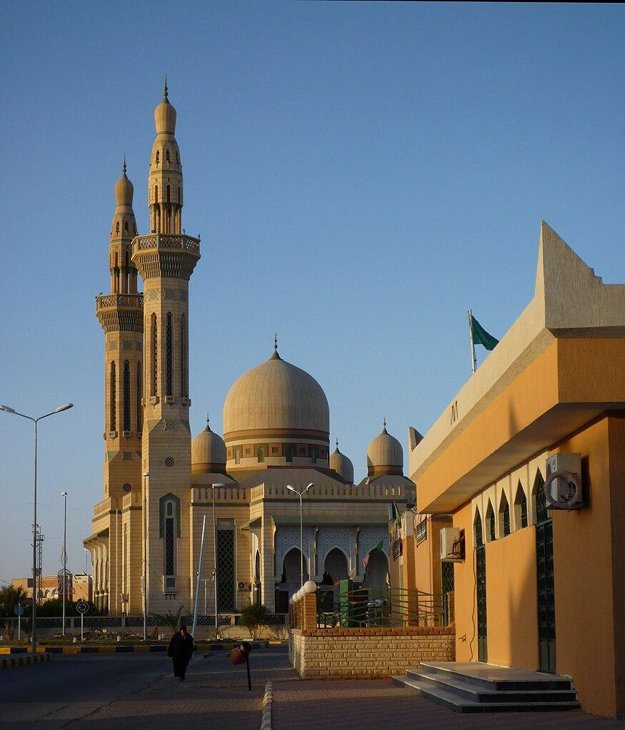 Masjid di Ghadames, dekat dengan perbatasan Tunisia dan Aljazair.