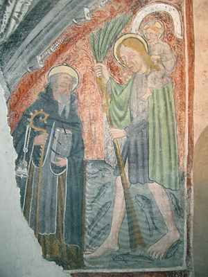 Roman Catholic Diocese of Ivrea - St. Christopher and St. Anthony the Abbot, Giacomo of Ivrea c. 1426