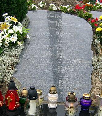 Augustów roundup - Image: Giby tablica z nazwiskami