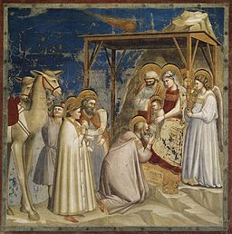 Giotto di Bondone - No. 18 Scenes from the Life of Christ - 2. Adoration of the Magi - WGA09195