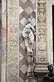 Giovanni antonio amadeo, facciata della cappella colleoni, 1472-75, portale centrale, annunciazione 02.JPG