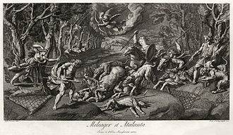 Calydonian Boar - Meleager et Atalanta, after Giulio Romano