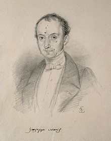 Giuseppe Giacinto Moris. Pencil drawing by C. E. Liverati, 1 Wellcome V0004129.jpg
