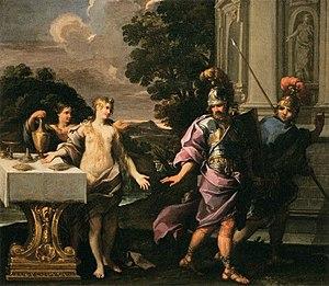 Giuseppe Passeri - Companions of Armida and Rinaldo by Giuseppe Passeri, Musée du Louvre, 1685-1690