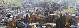 Glarus - Panorama of the City of Glarus