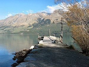 Locations in New Zealand with a Scottish name - Looking at Lake Wakatipu from Glenorchy