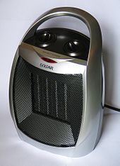 Silver-colored space heater