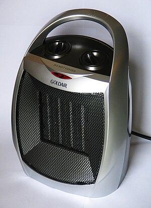 Space heater - A Goldair ceramic heater, a CDB Goldair brand
