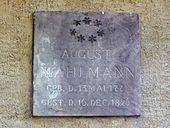 Seine Grabplatte auf dem Alten Johannisfriedhof in Leipzig (Quelle: Wikimedia)