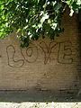 Grafitti - LOVE - Wall of a school - behesht st - Nishapur 1.JPG