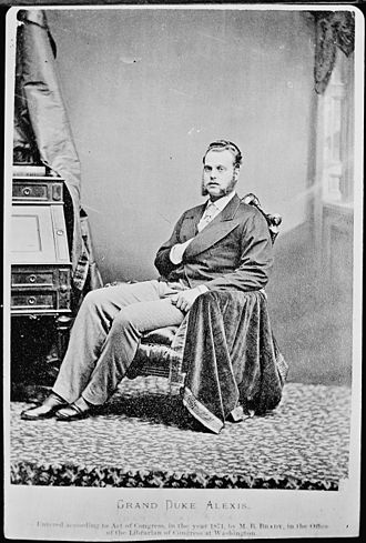 Grand Duke Alexei Alexandrovich of Russia - Photo by Mathew Brady