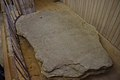 Grave Slab with faint Irish cross interlace at Durrow Abbey.jpg