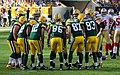 Green Bay Packers huddle - San Francisco vs Green Bay 2012.jpg