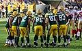 Green Bay Packers huddle - San Francisco vs Green Bay 2012.jpg