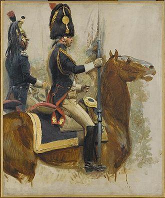 Grenadiers à Cheval de la Garde Impériale - Grenadier à cheval officer (front)
