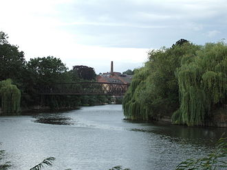 Coleham - Greyfriars Bridge, linking Shrewsbury's town centre with Coleham
